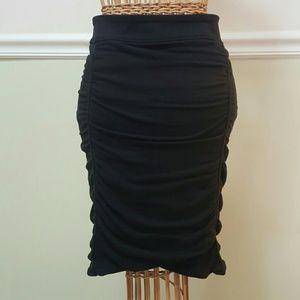 Athleta women's Black Twisted Midi Skirt, sz XS